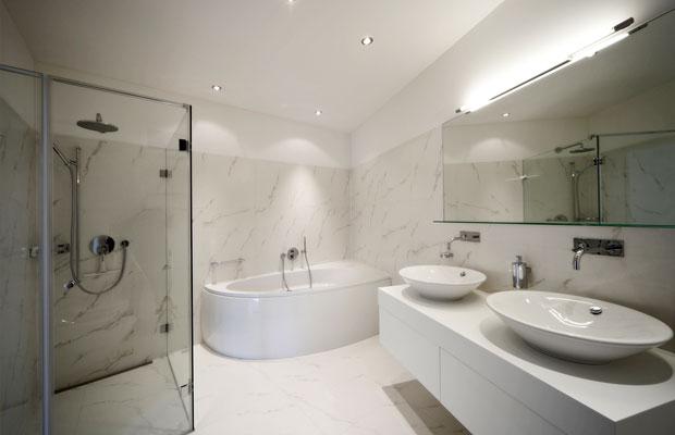 badezimmermöbel weiss modern